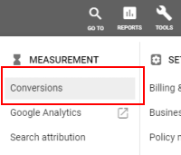 Tools: Conversions (AdWords)