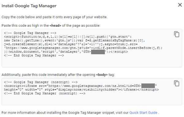 GTM Code Sample