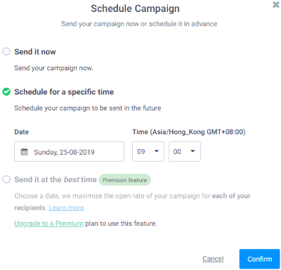 Schedule Email Campaign