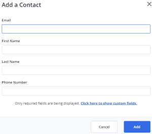 Add a contact (ActiveCampaign)