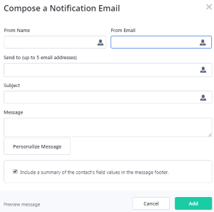 Create notification email (ActiveCampaign)