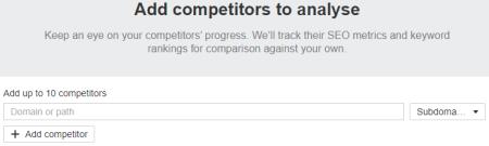 Add Competitors to Analyze (Ahrefs)