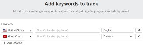 Add Keywords to Track (Ahrefs)