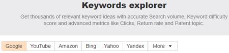 Ahrefs Keywords Explorer tool