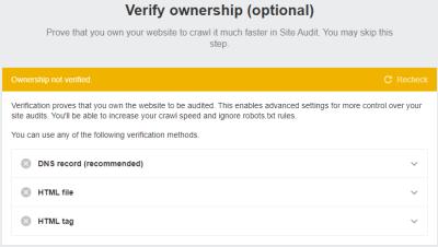 Ahrefs verify ownership
