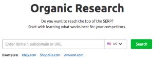 Organic Research Tool (SEMrush)